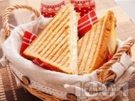 Сандвичи с пуешко филе и черен хляб